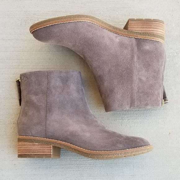 Sperry Gray Suede Ankle Boot Maya Belle